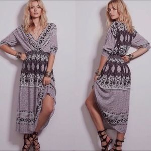 Free People She's A Lady Printed Dress